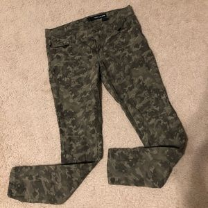 DKNY camouflage jeans